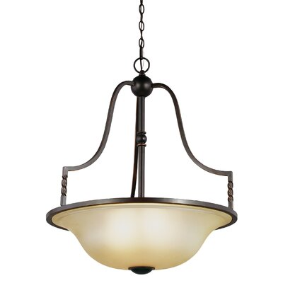 Bungalow 4-Light Bowl Pendant