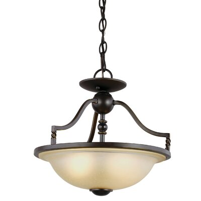 Bungalow 2-Light Bowl Pendant