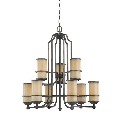 Bale 9-Light Shaded Chandelier