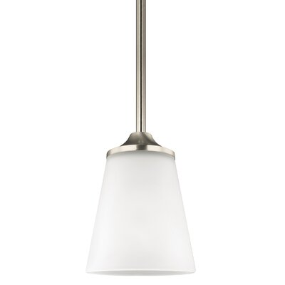 Elkton 1-Light Mini Pendant Finish: Brushed Nickel