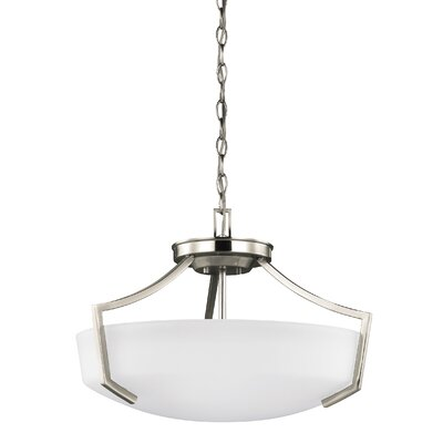 Elkton 3-Light Bowl Pendant Finish: Brushed Nickel
