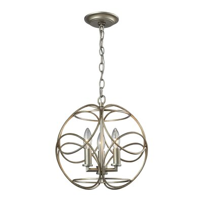 Kiyoko 3-Light Foyer Pendant Finish: Aged Silver