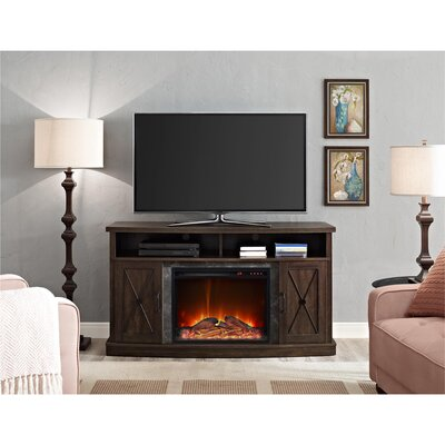 Schuyler TV Stand with Electric Fireplace
