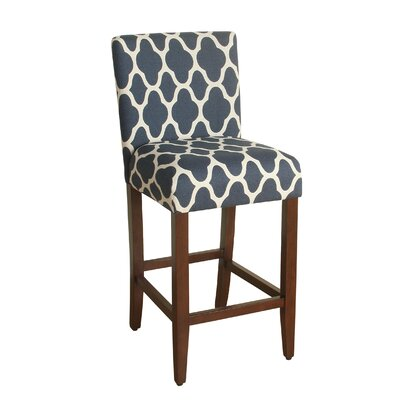 Seward 29 Bar Stool Upholstery: Navy Blue