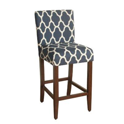 Seward 29 inch Bar Stool Upholstery: Navy Blue