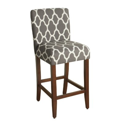 Seward 29 Bar Stool Upholstery: Warm Gray