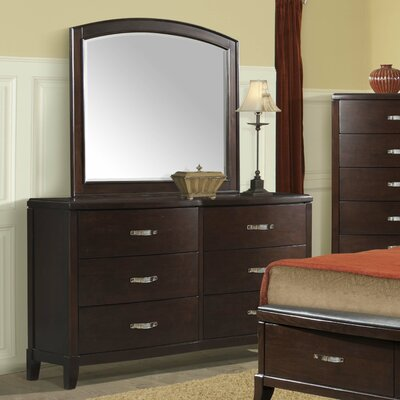 Mcduffie  6 Drawer Combo Dresser with Mirror