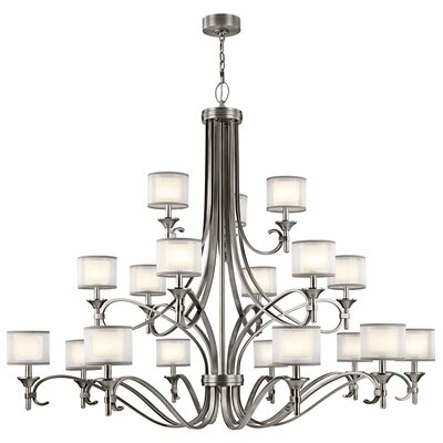 Boswell 18-Light Drum Chandelier Finish: Antique Pewter