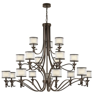 Boswell 18-Light Drum Chandelier Finish: Mission Bronze
