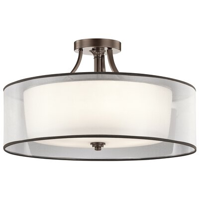 Boswell 5-Light Semi Flush Mount Finish: Mission Bronze