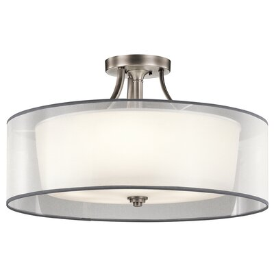 Boswell 5-Light Semi Flush Mount Finish: Antique Pewter