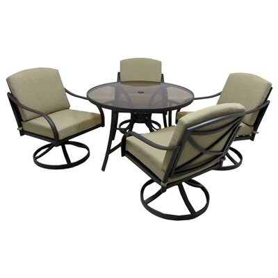 Boundary Bay 5 Piece Dining Set with Cushions