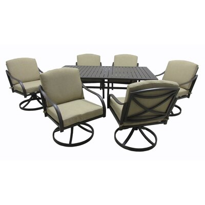 Boundary Bay 7 Piece Dining Set with Cushions