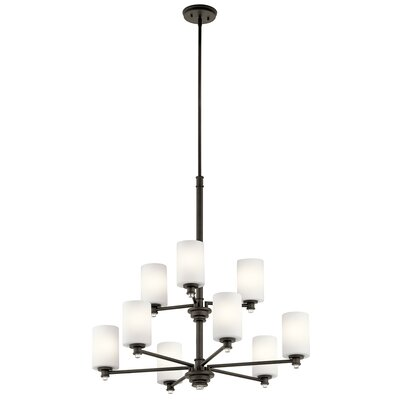 Bourdeau 9-Light Shaded Chandelier Finish: Old Bronze