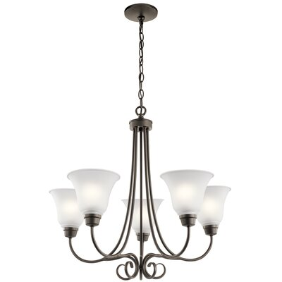 Bourneville 5-Light Shaded Chandelier Finish: Old Bronze
