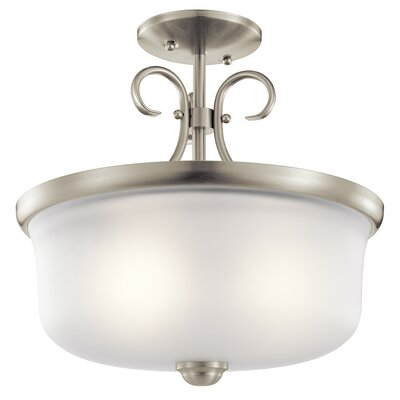 Bourneville 2-Light Pendant /Semi Flush Finish: Brushed Nickel