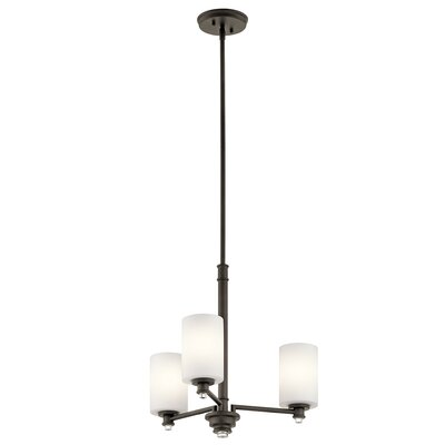 Bourdeau 3-Light Shaded Chandelier Finish: Old Bronze