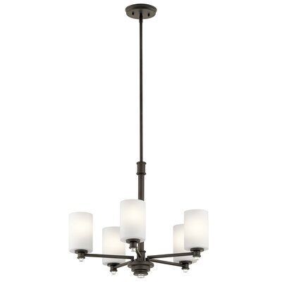 Bourdeau 5-Light Shaded Chandelier Finish: Old Bronze
