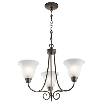 Bourneville 3-Light Shaded Chandelier Finish: Old Bronze