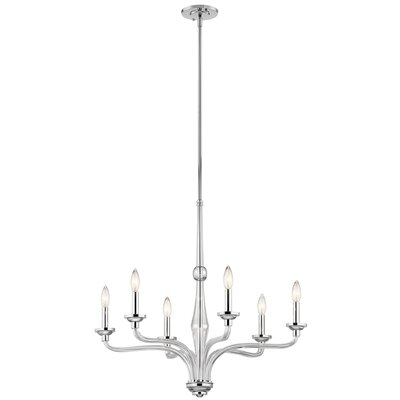 Bourbon 6-Light Candle-Style Chandelier