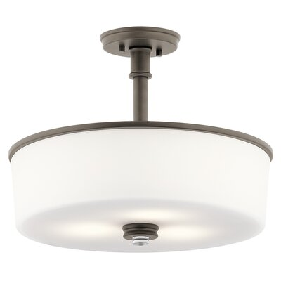 Bourdeau 3-Light Semi Flush Mount Finish: Old Bronze