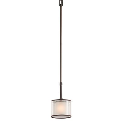 Boswell 1-Light Drum Mini Pendant Finish: Mission Bronze