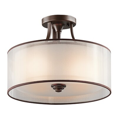 Boswell 3-Light Semi Flush Mount Finish: Mission Bronze