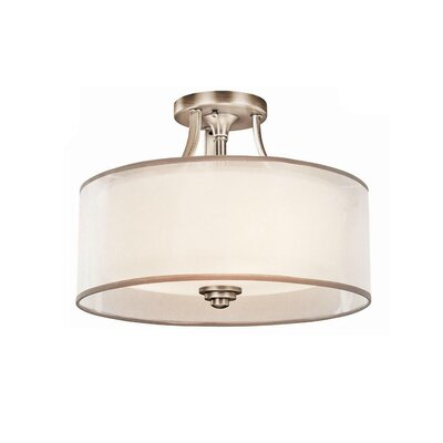 Boswell 3-Light Semi Flush Mount Finish: Antique Pewter