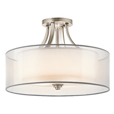 Boswell 4-Light Semi Flush Mount Finish: Antique Pewter