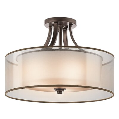 Boswell 4-Light Semi Flush Mount Finish: Mission Bronze