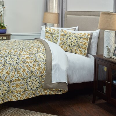 Ghent 3 Piece Comforter Set Size: King