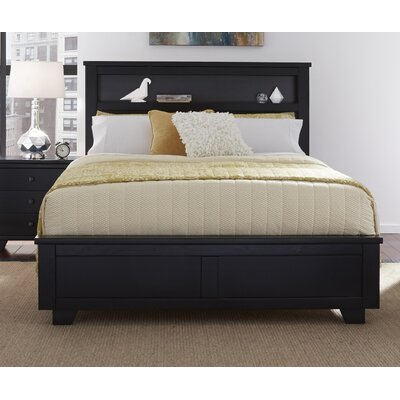 Loughran Bookcase Headboard Size: King, Color: Black