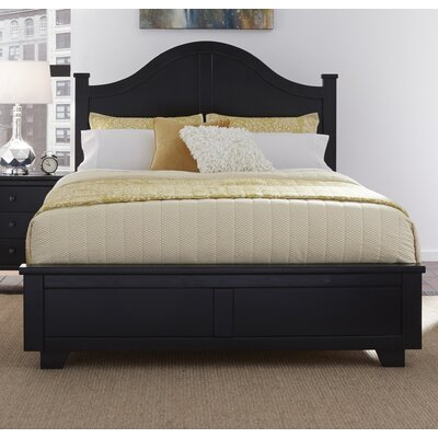Loughran Arched Panel Headboard Size: Queen, Color: Black