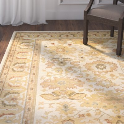 Blue Point Creme Floral Area Rug Rug Size: 8 x 11