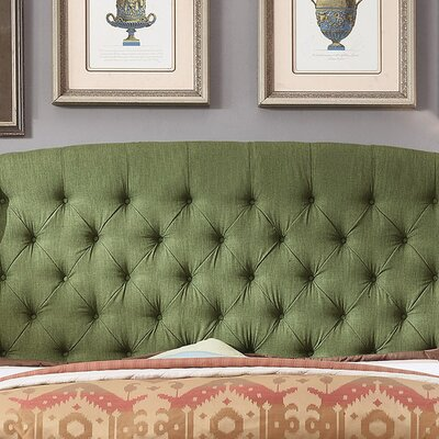 Leatham Upholstered Wingback Headboard Size: Twin, Upholstery: Natural Olive Green