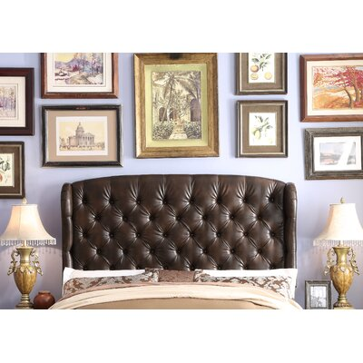 Halsey Queen Upholstered Wingback Headboard