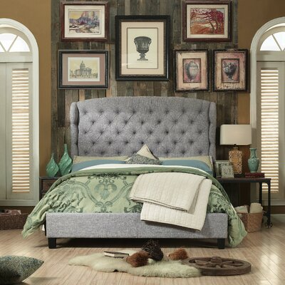 Halsey Queen Upholstered Panel Bed