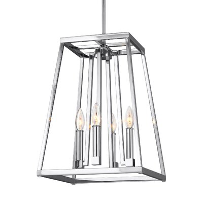 Hanley 4-Light Foyer Pendant Finish: Chrome, Size: 18 H x 13 W x 13 D