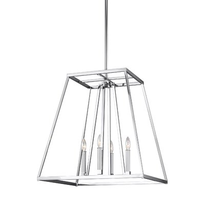 Hanley 4-Light Foyer Pendant Finish: Chrome, Size: 24 H x 23 W x 23 D