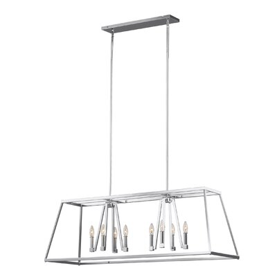 Hanley 8-Light Kitchen Island Pendant Finish: Chrome