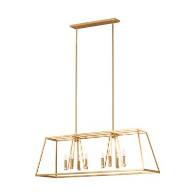 Hanley 8-Light Kitchen Island Pendant Finish: Gilded Satin Brass
