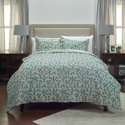 Haynes 3 Piece Comforter Set Size: Queen