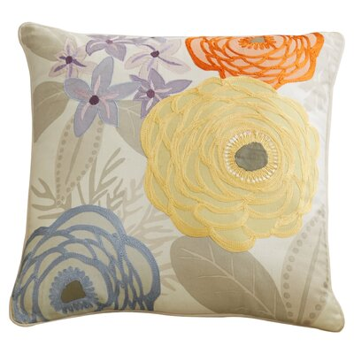 Hess 100% Cotton Throw Pillow Size: 22 H x 22 W x 4 D, Color: Beige/Light Gray