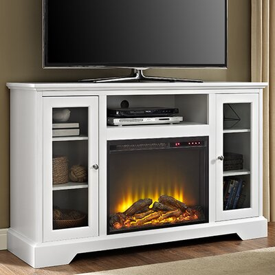 Heywood TV Stand with Electric Fireplace Finish: White
