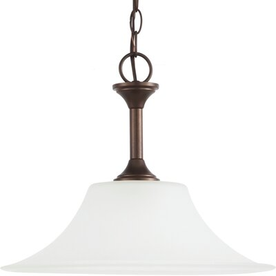 Buren 1-Light Bowl Pendant Finish: Bell Metal Bronze