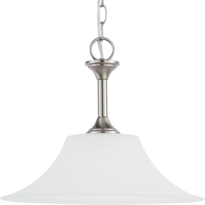 Buren 1-Light Pendant Finish: Brushed Nickel