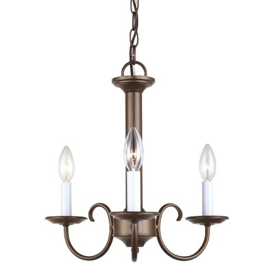 Buren 3-Light Candle-Style Chandelier Finish: Bronze