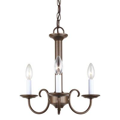 Buren 3-Light Candle-Style Chandelier Finish: Bronze