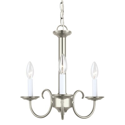 Buren 3-Light Candle-Style Chandelier Finish: Brushed Nickel