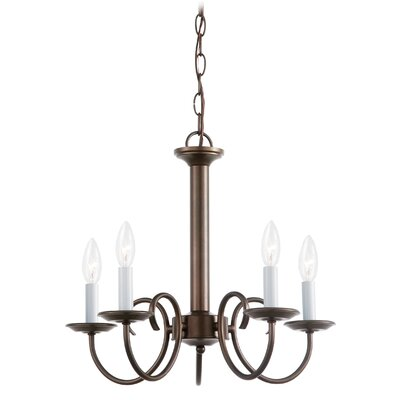Buren 5-Light Candle-Style Chandelier Finish: Bronze